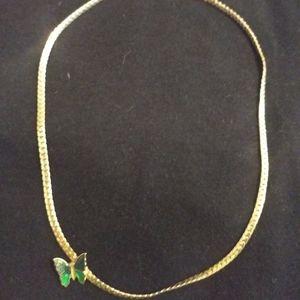 Vintage Avon Butterfly Necklace